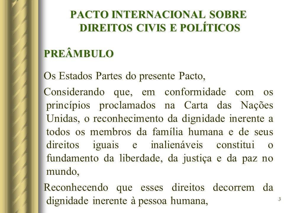 PACTO INTERNACIONAL SOBRE DIREITOS CIVIS E POLÍTICOS