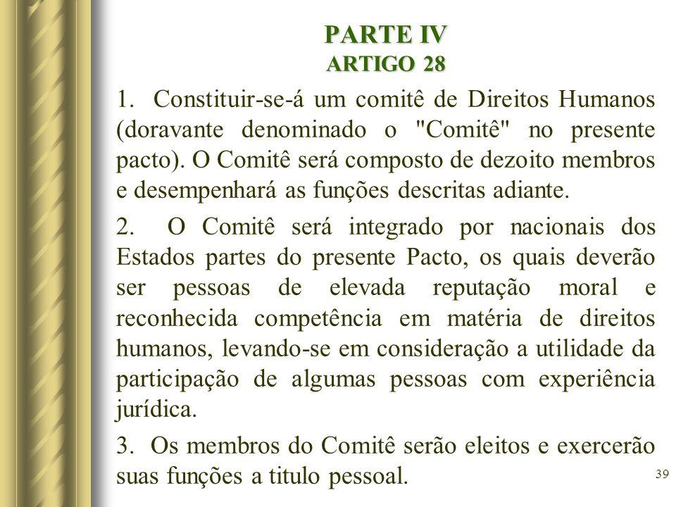 PARTE IV ARTIGO 28