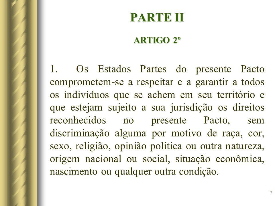 PARTE II ARTIGO 2º.
