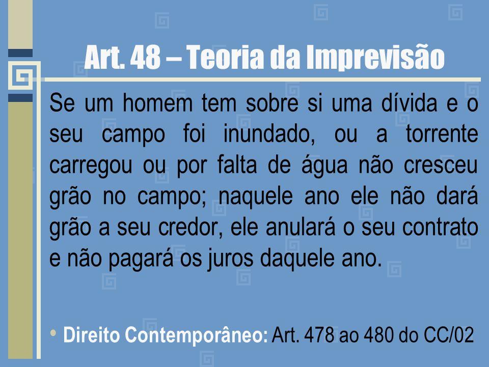 Art. 48 – Teoria da Imprevisão
