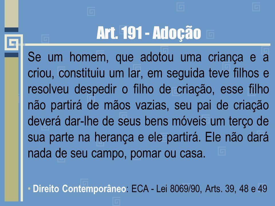 Art. 191 - Adoção