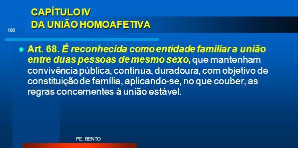 CAPÍTULO IV DA UNIÃO HOMOAFETIVA