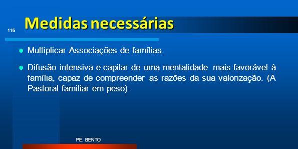 Medidas necessárias Multiplicar Associações de famílias.