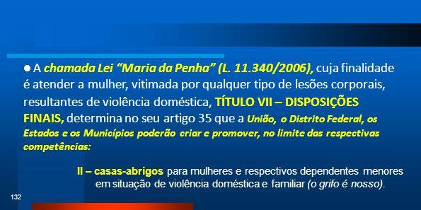 A chamada Lei Maria da Penha (L. 11