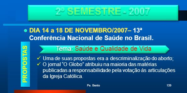 Tema: Saúde e Qualidade de Vida