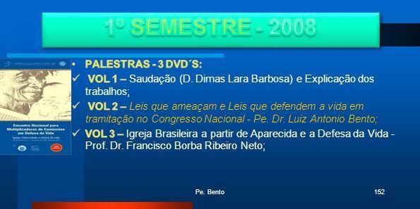 1º SEMESTRE - 2008 PALESTRAS - 3 DVD´S: