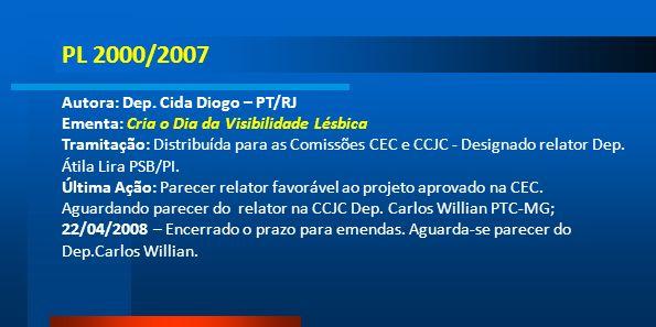 PL 2000/2007 Autora: Dep. Cida Diogo – PT/RJ