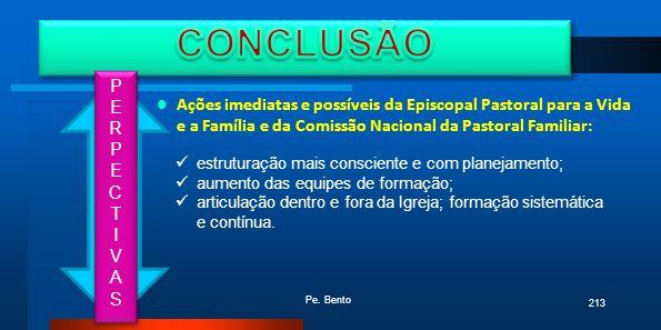 CONCLUSÃO P. E. R. C. T. I. V. A. S.