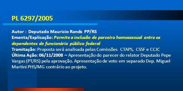 PL 6297/2005 Autor : Deputado Mauricio Rands PP/RS