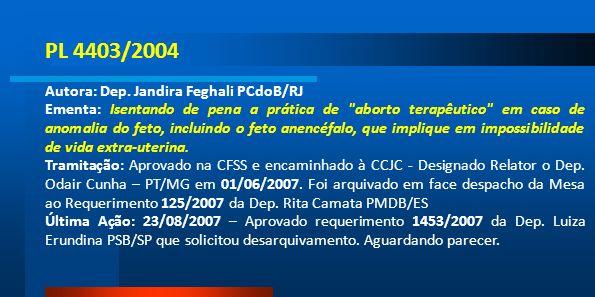 PL 4403/2004 Autora: Dep. Jandira Feghali PCdoB/RJ