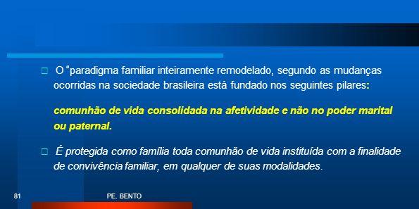 O paradigma familiar inteiramente remodelado, segundo as mudanças ocorridas na sociedade brasileira está fundado nos seguintes pilares: