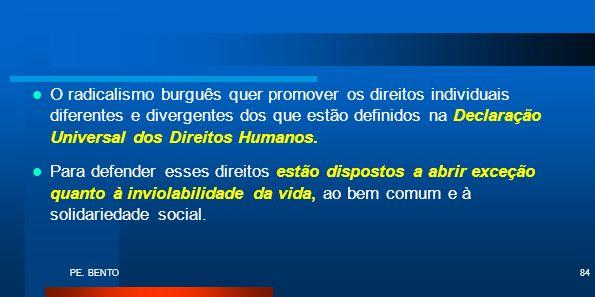 O radicalismo burguês quer promover os direitos individuais diferentes e divergentes dos que estão definidos na Declaração Universal dos Direitos Humanos.