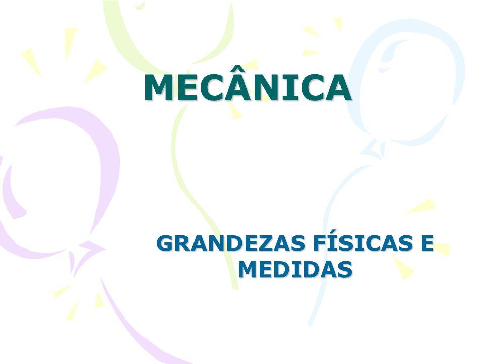 GRANDEZAS FÍSICAS E MEDIDAS