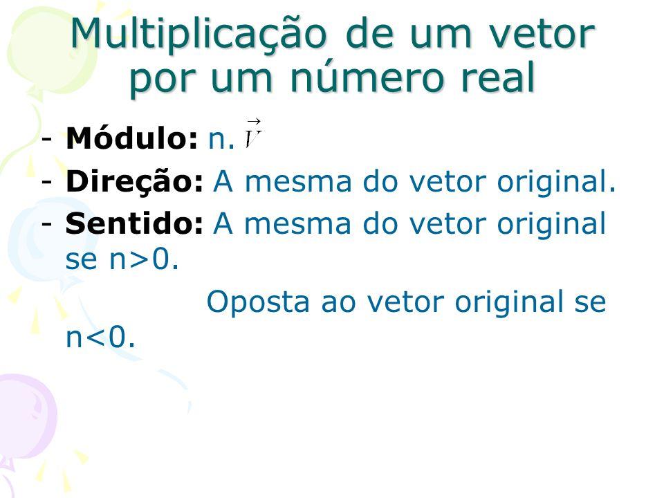 Multiplicação de um vetor por um número real