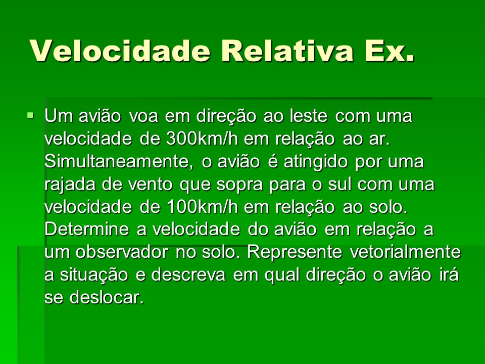 Velocidade Relativa Ex.