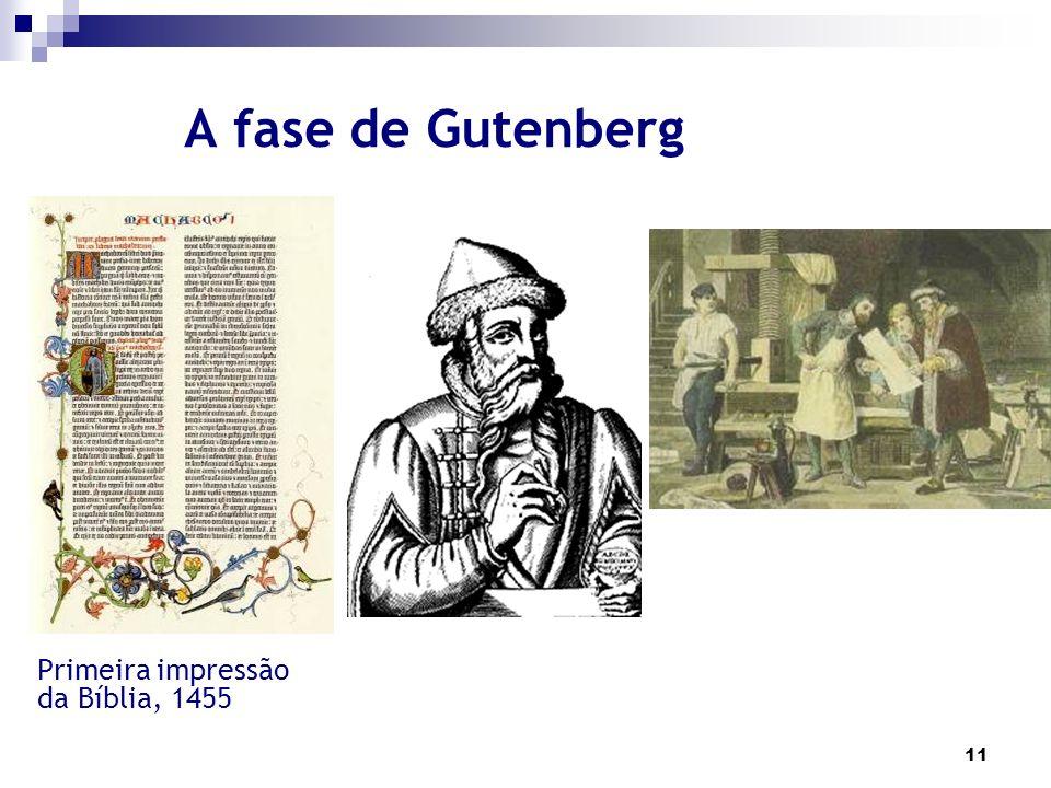 A fase de Gutenberg Primeira impressão da Bíblia, 1455