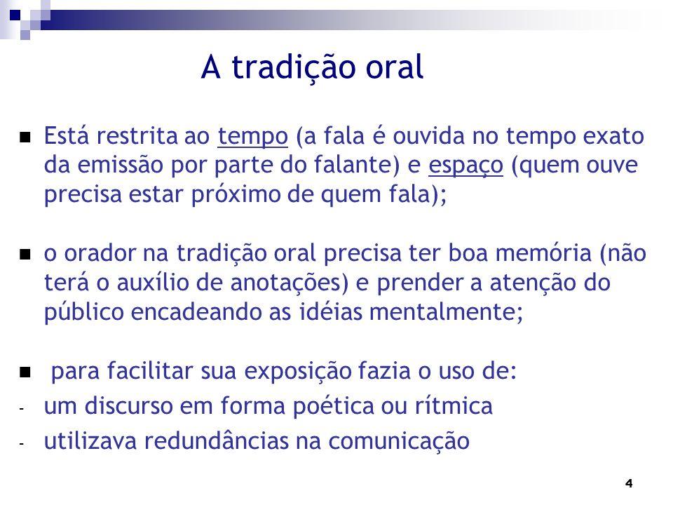 A tradição oral