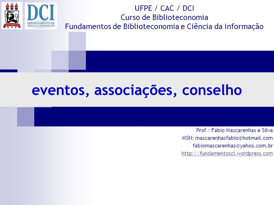 eventos, associações, conselho