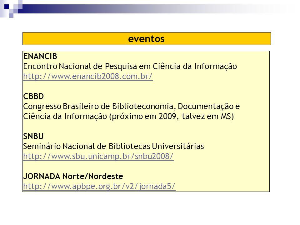 eventos ENANCIB Encontro Nacional de Pesquisa em Ciência da Informação