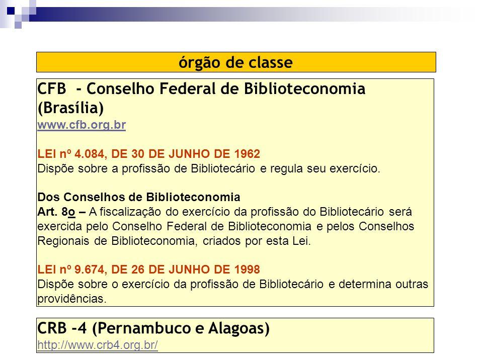 CFB - Conselho Federal de Biblioteconomia (Brasília)