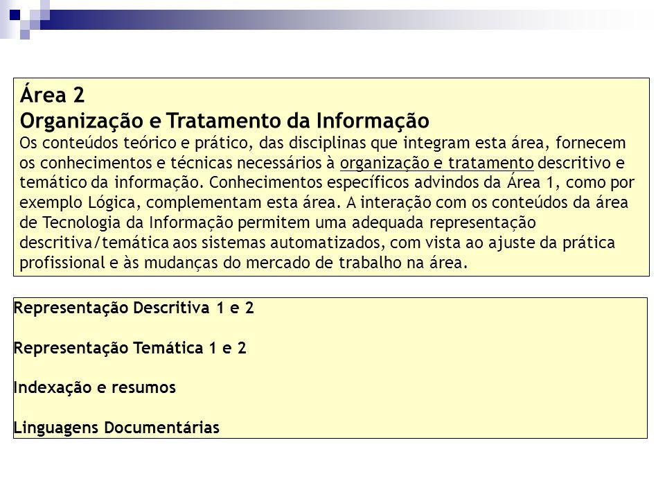 Organização e Tratamento da Informação