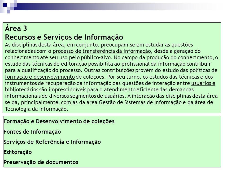Recursos e Serviços de Informação