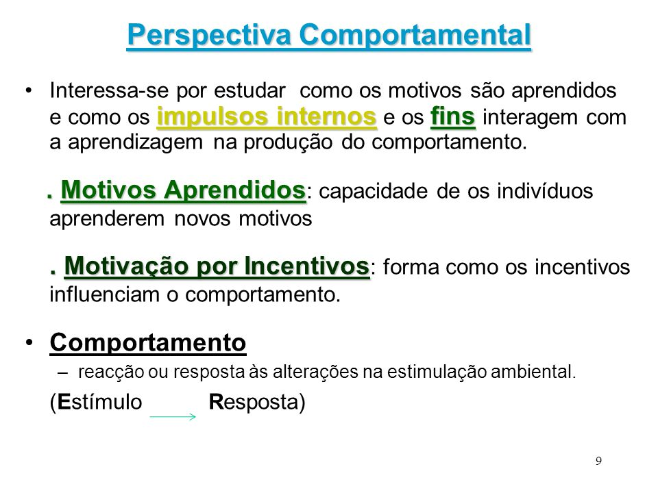 Perspectiva Comportamental
