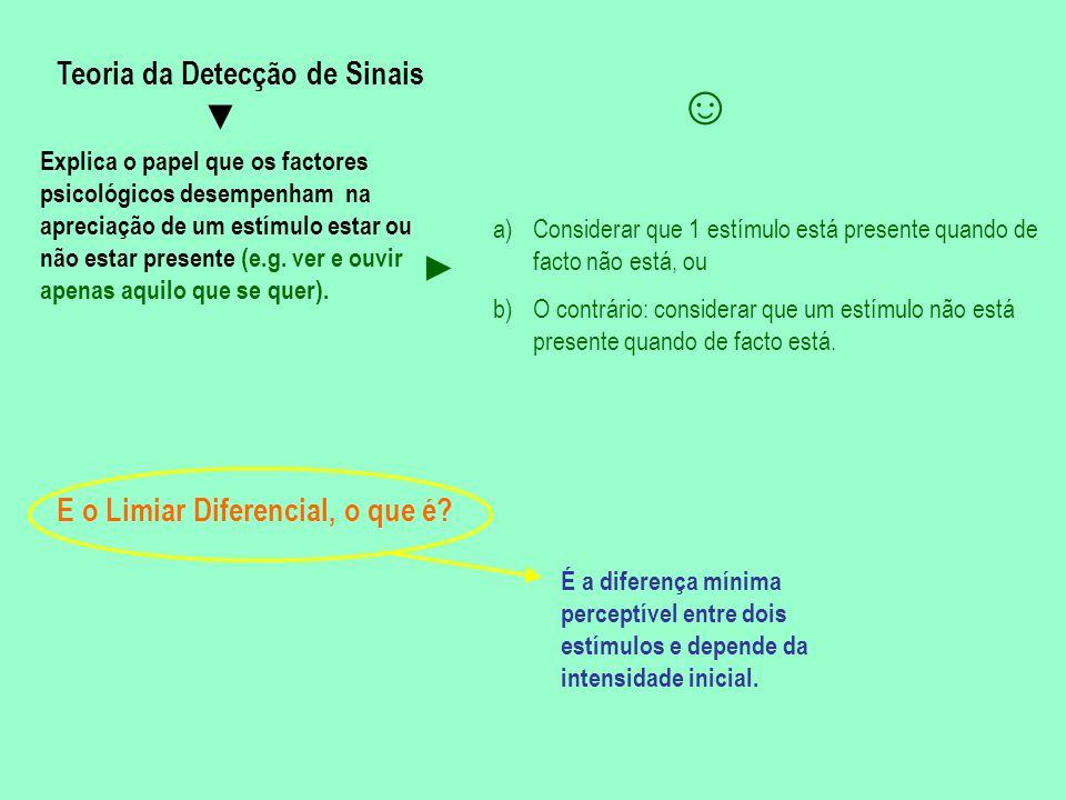 ☺ ▼ ► Teoria da Detecção de Sinais E o Limiar Diferencial, o que é