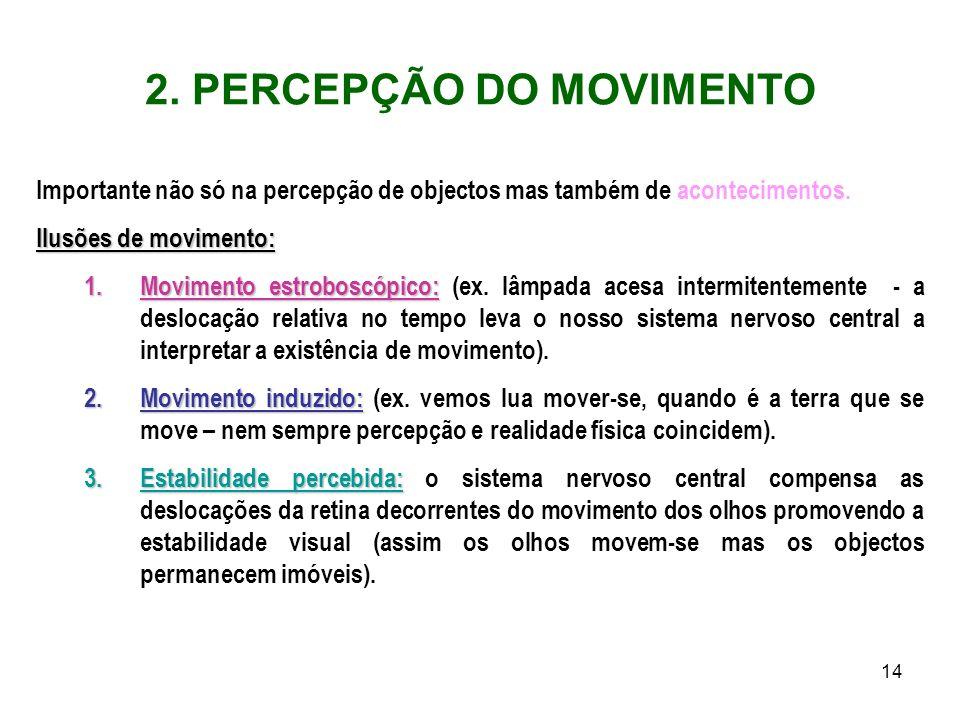 2. PERCEPÇÃO DO MOVIMENTO