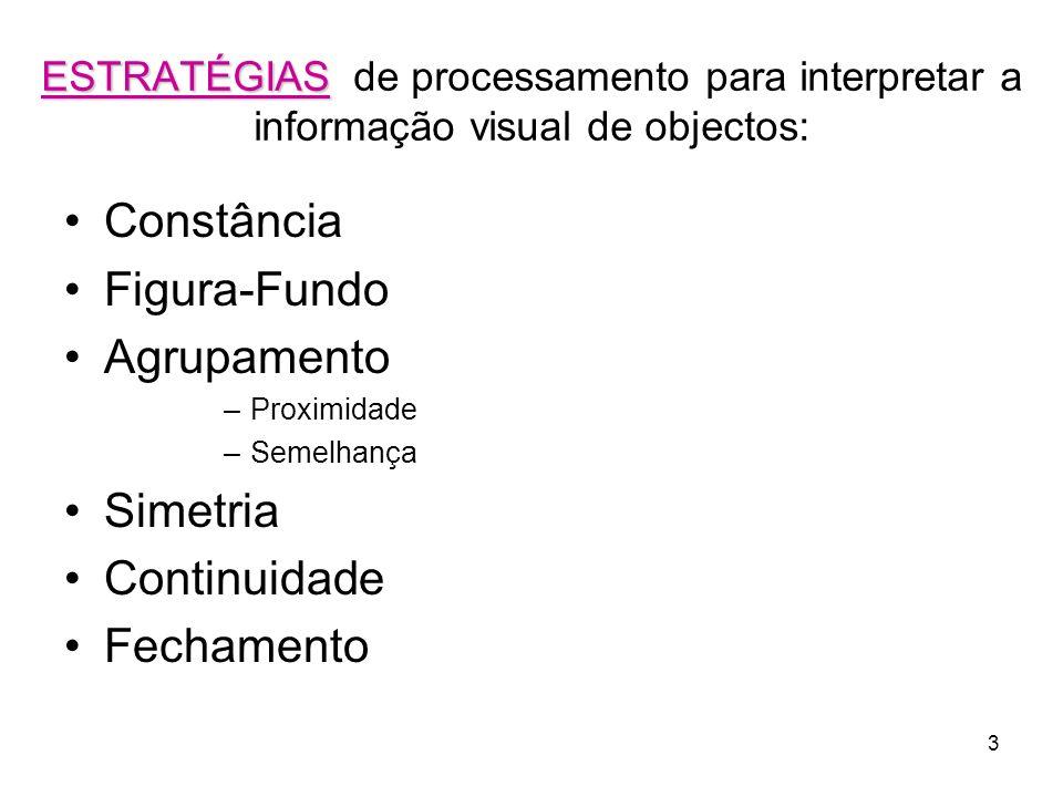 Constância Figura-Fundo Agrupamento Simetria Continuidade Fechamento