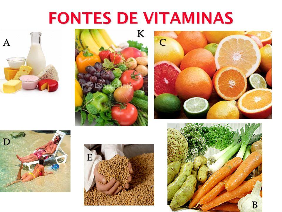 FONTES DE VITAMINAS K A C D E B