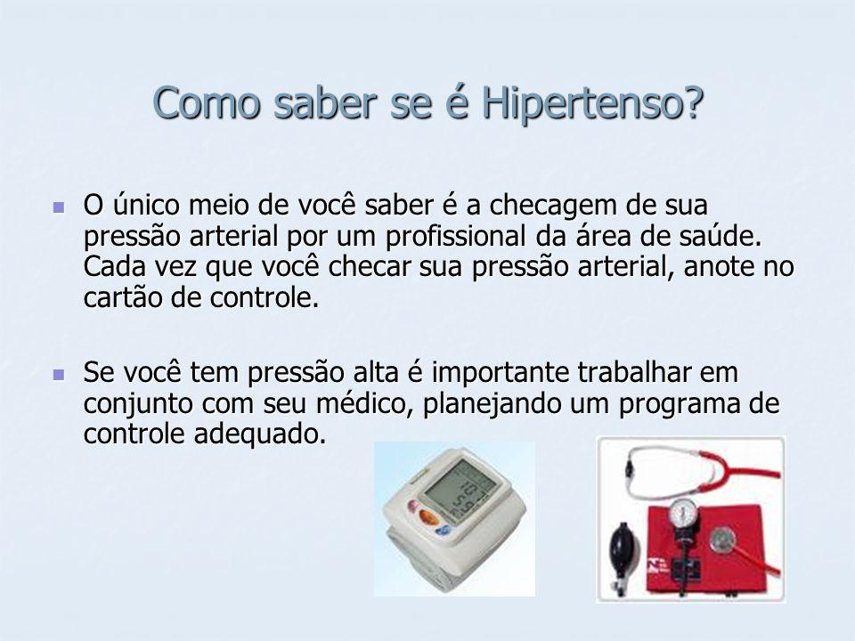 Como saber se é Hipertenso