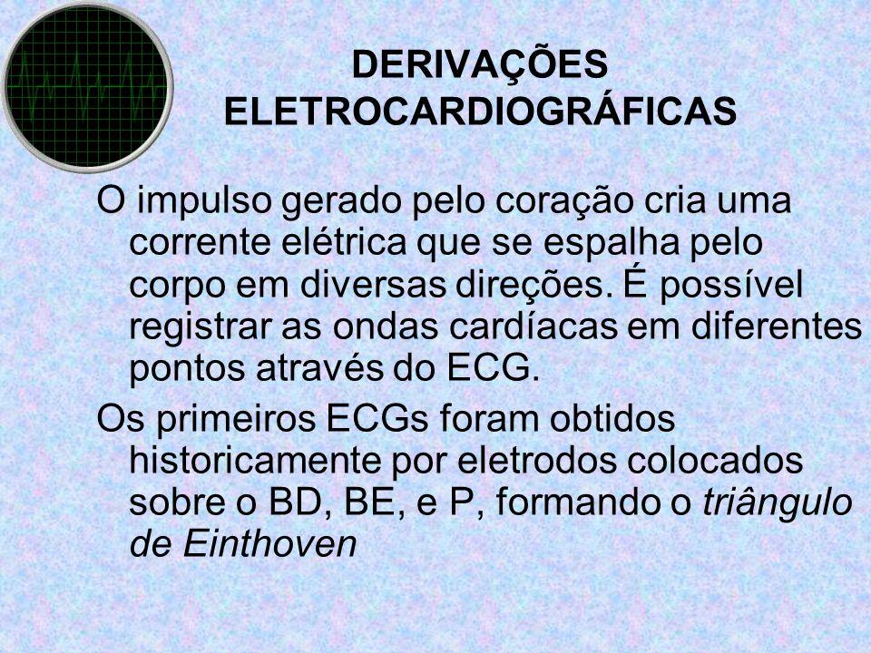 DERIVAÇÕES ELETROCARDIOGRÁFICAS