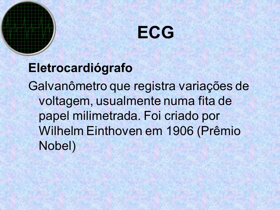 ECG Eletrocardiógrafo