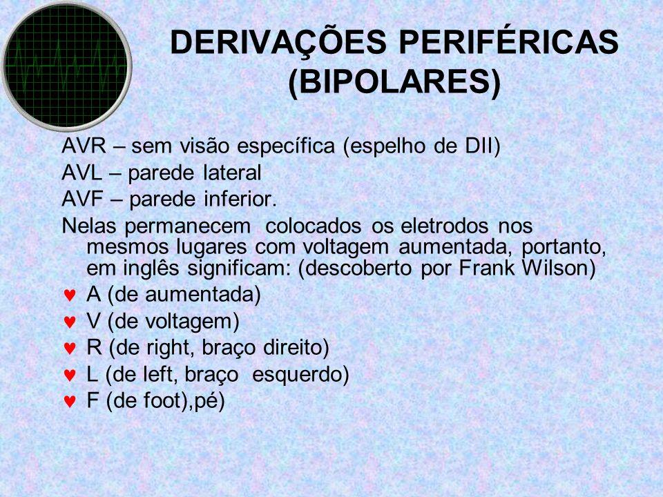 DERIVAÇÕES PERIFÉRICAS (BIPOLARES)