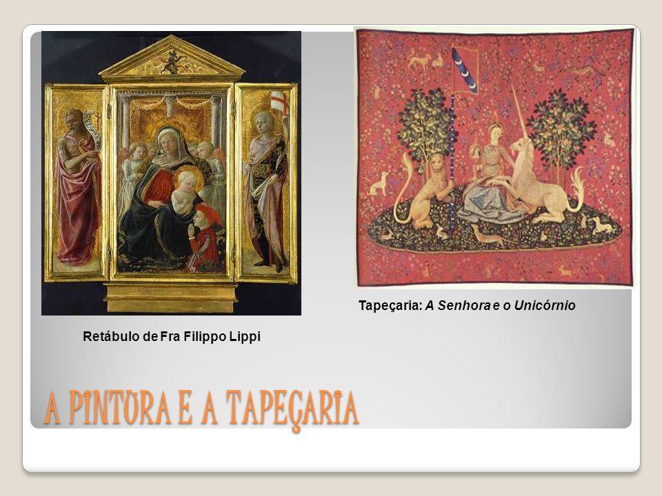 Tapeçaria: A Senhora e o Unicórnio Retábulo de Fra Filippo Lippi