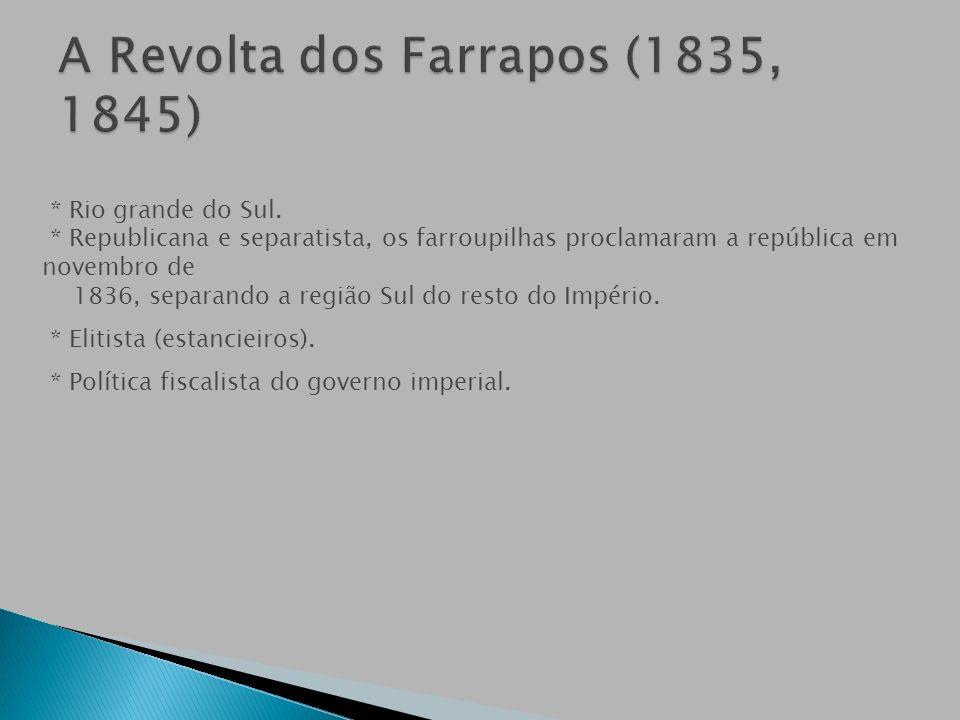 A Revolta dos Farrapos (1835, 1845)