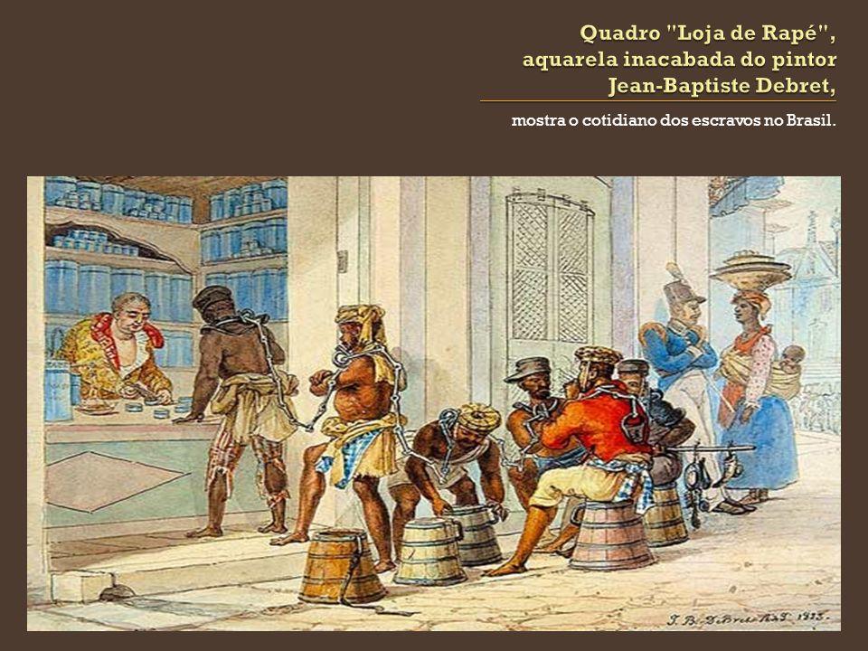 Quadro Loja de Rapé , aquarela inacabada do pintor Jean-Baptiste Debret,