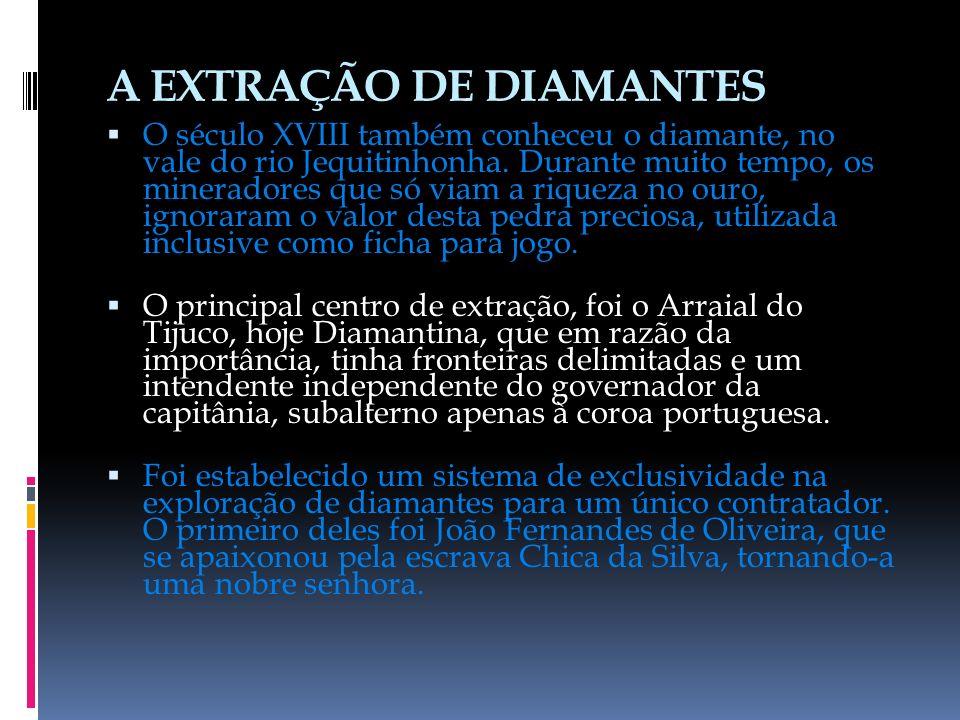 A EXTRAÇÃO DE DIAMANTES
