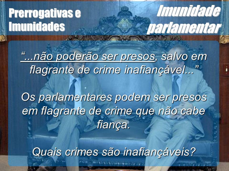 Quais crimes são inafiançáveis