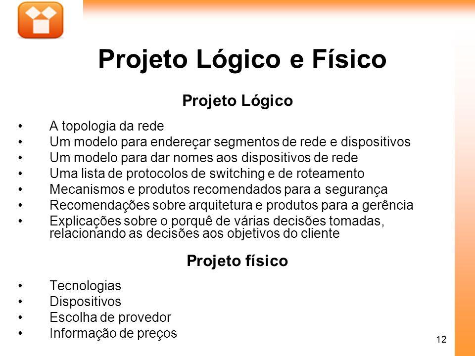 Projeto Lógico e Físico