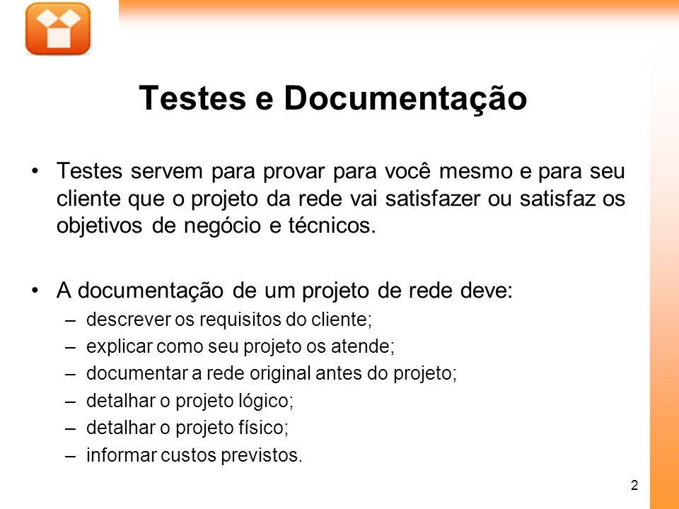 Testes e Documentação