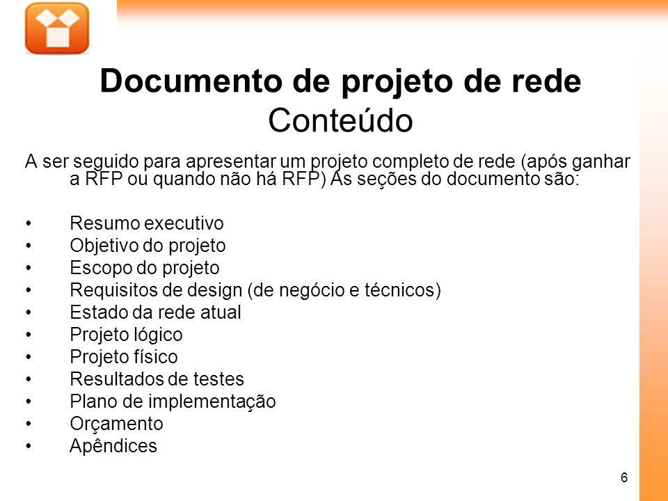 Documento de projeto de rede Conteúdo