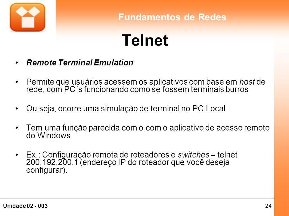 Telnet Remote Terminal Emulation