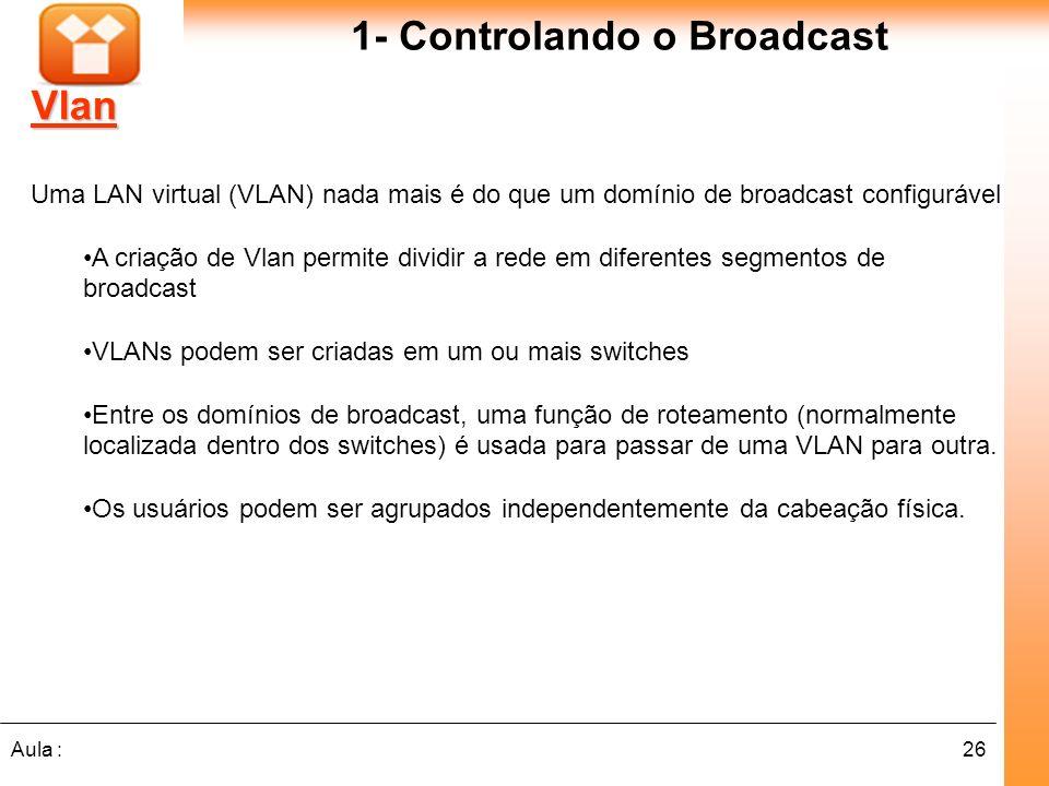 1- Controlando o Broadcast