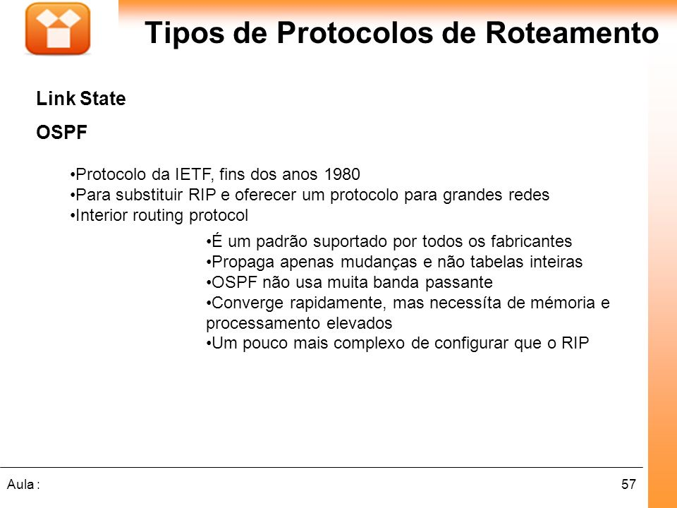 Tipos de Protocolos de Roteamento
