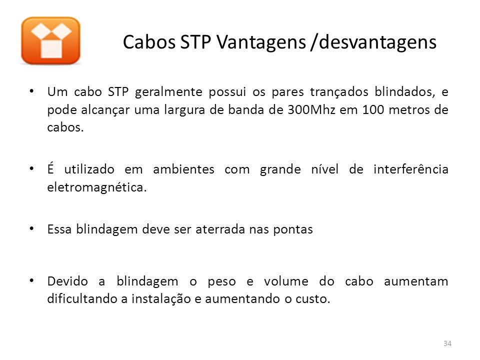 Cabos STP Vantagens /desvantagens