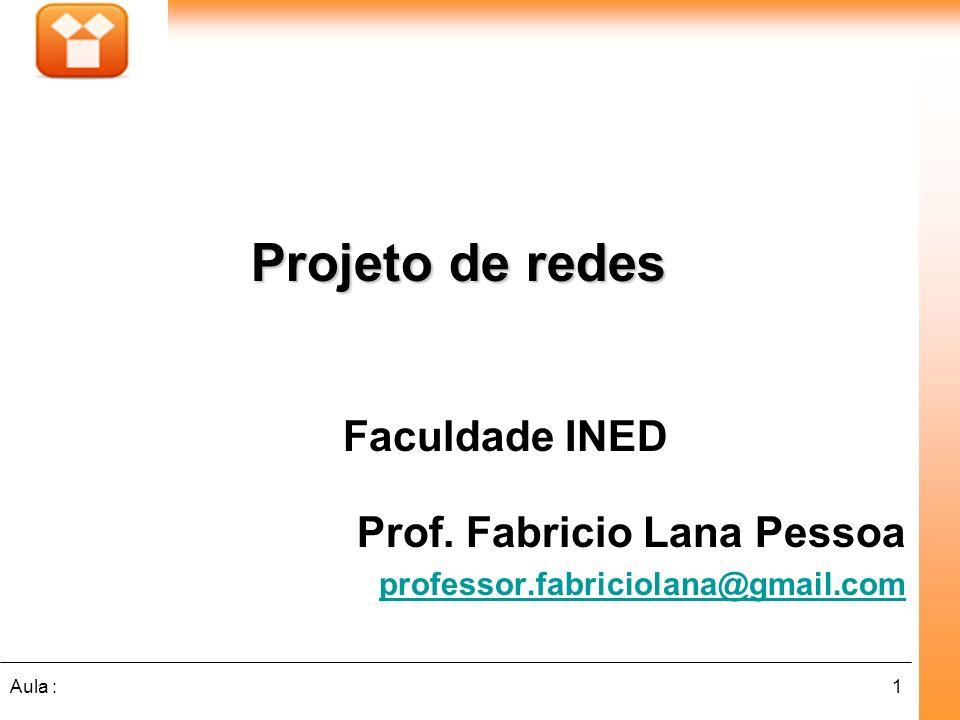 Projeto de redes Faculdade INED Prof. Fabricio Lana Pessoa
