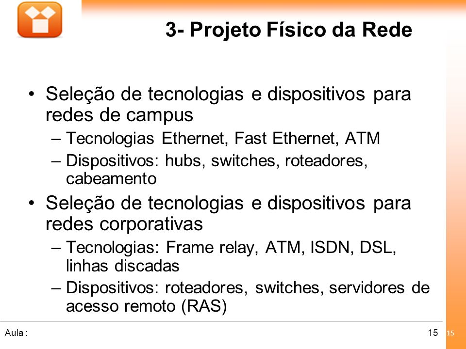 3- Projeto Físico da Rede