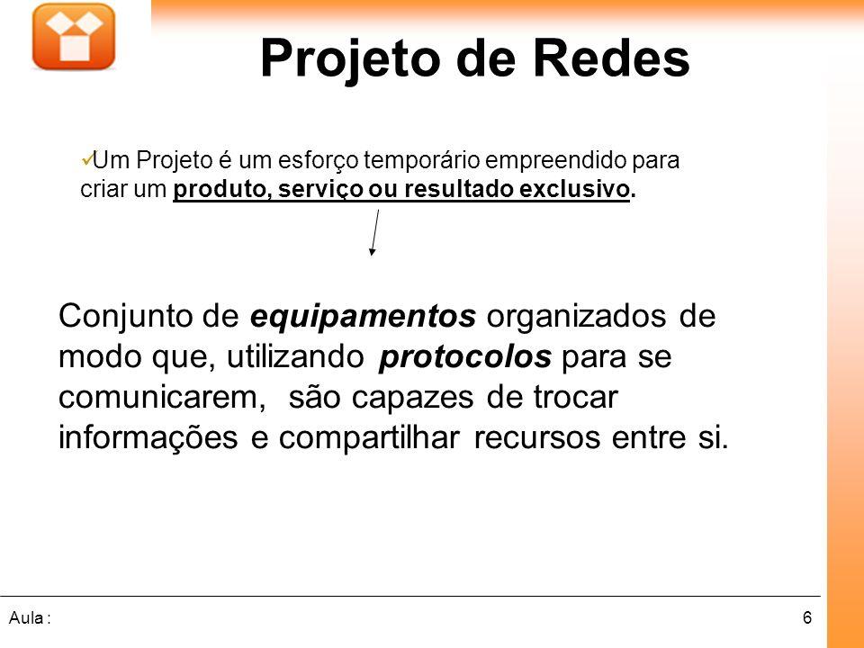 Projeto de Redes Um Projeto é um esforço temporário empreendido para criar um produto, serviço ou resultado exclusivo.